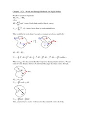 Chapter 18 - Energy of a Rigid Body