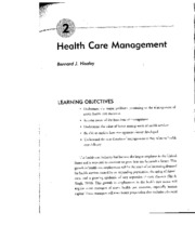 Ch. 2 of Foundation of Health Care Mngt