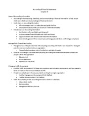 Chapter 15-Accounting Outline