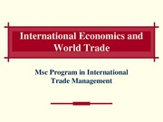 Lectures 4 & 5- International Trade Theory