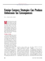 Foreign currency strategies can produce unforeseen tax consequences