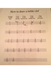 Instructions on how to draw a treble clef