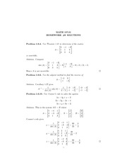 Math 107 homework solutions  6 linear systems