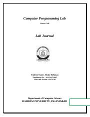 Lab Journal