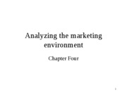 Analyzing the marketing environment