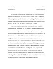 Essay #28 importance of crime