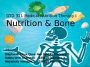 Nutrition and Bone