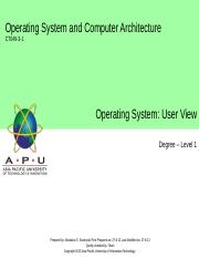 10_Operating Sytems-User View.ppt