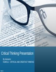 Critical thinking presentation - Final.ppt