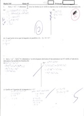Calculus Quiz 3