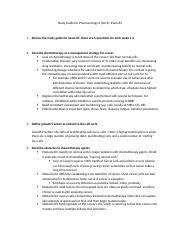 Pharm II Study Guide 2