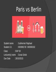 Paris vs Berlin