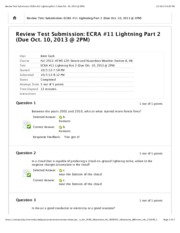 Review Test Submission_ ECRA #11 Lightning Part 2 (Due Oct. 10, 2013 @ 2PM)