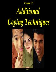 Chapter 17 Coping Techniques Power Points. ppt