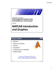 Lecture 2 -- MATLAB introduction and graphics