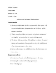 The Declaration Home Work