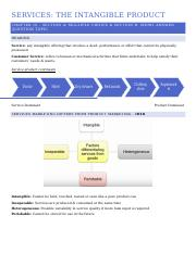 Services - the intangible product revision notes.docx