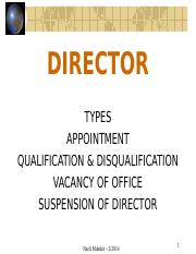 3 -  Directors - appointment and removal.ppt