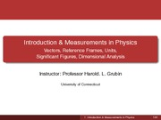Lecture01. Introduction and Measurements in Physics Student Version