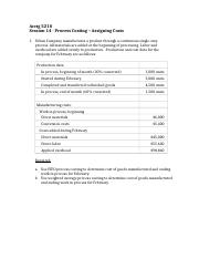 Session 14 - Inclass Problem - Process Costing - Assigning Costs - Solution-1.docx