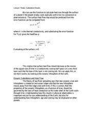 Lecture 7 Notes Subsidence Results