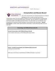 Immunization and Disease Record.docx