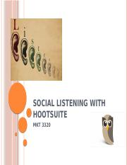 Social Listening with HootSuite