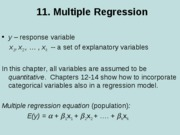 11. Multiple regression