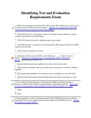 Identifying Test and Evaluation Requirements Exam.pdf