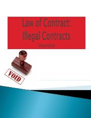 Law of Contract - Illegal Contracts.ppt