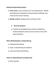 Statistical Data Mining Notes