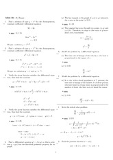 Homework 1 Solution Spring 2008 on Differential Equations with Linear Algebra 1