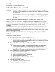 International Relations Study Guide (Test 1)