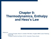 2009-11-12 - Thermodynamics, Enthalpy and Hess's Law