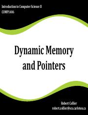 COMP1406C-W16-0126-01-(Dynamic Memory and Pointers).pdf
