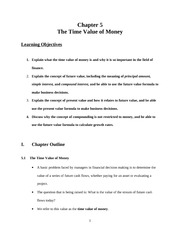 6.The Time Value of Money