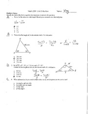 Math 2201 Trig Test Sample