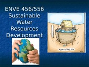 Lecture 2 - Water policy development - red highlights for policy development