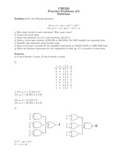 220_PracticeProblems_2_DigitalLogic_Sol