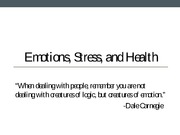 Chapter 12 Emotions, Stress, and Health
