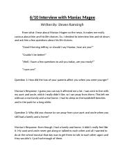 6-10 Interview with Maniac Magee.docx