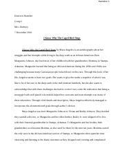 evaluative essay hamsher emerson hamsher comp i mrs duxbury  evaluative essay hamsher 1 emerson hamsher comp i mrs duxbury 7 2016 i know why the caged bird sings i know why the caged bird sings by a