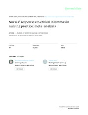 NR505-Nurses' responses to ethical dilemmas in nursing practice