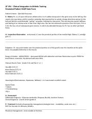 Simulated Patient SOAP Note Form(3)