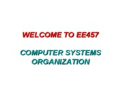 1 - Welcome - General  Welcome_to_EE457