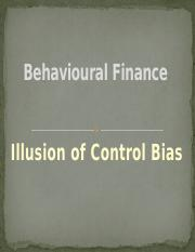 #10 - Illusion of Control Bias
