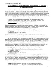 inspector calls essay questions aqa For section a of lit paper 2, you have to answer one essay question on an inspector calls here are the question focused covered in the sample papers provided by aqa.