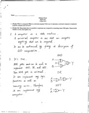 Midterm Sample Solution