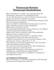 Thermocouple Materials