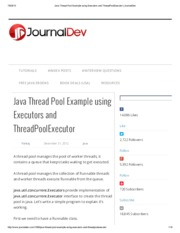 Java Thread Pool Example using Executors and ThreadPoolExecutor _ JournalDev